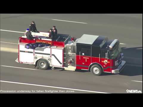 Procession underway for fallen firefighter Ken Jones