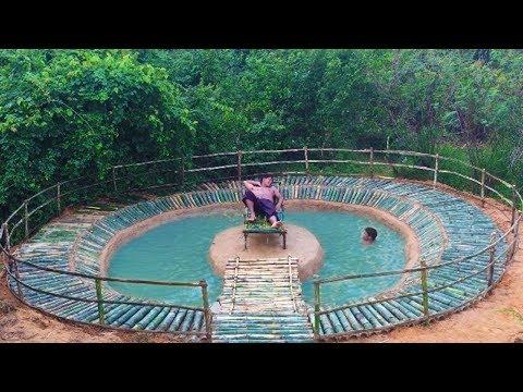 Build Swimming Pool Underground Using Bamboo 100%