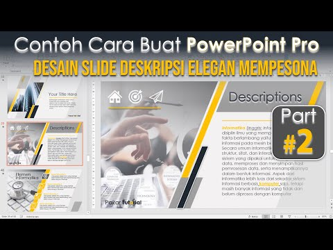 Contoh Power Point Pro | Cara Desain Slide Deskripsi yang Elegan