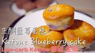 easy ketone Blueberry cake 生酮藍莓蛋糕 零失敗簡單做家用烤箱《低碳生酮甜點 Low carb Ketone Dessert》