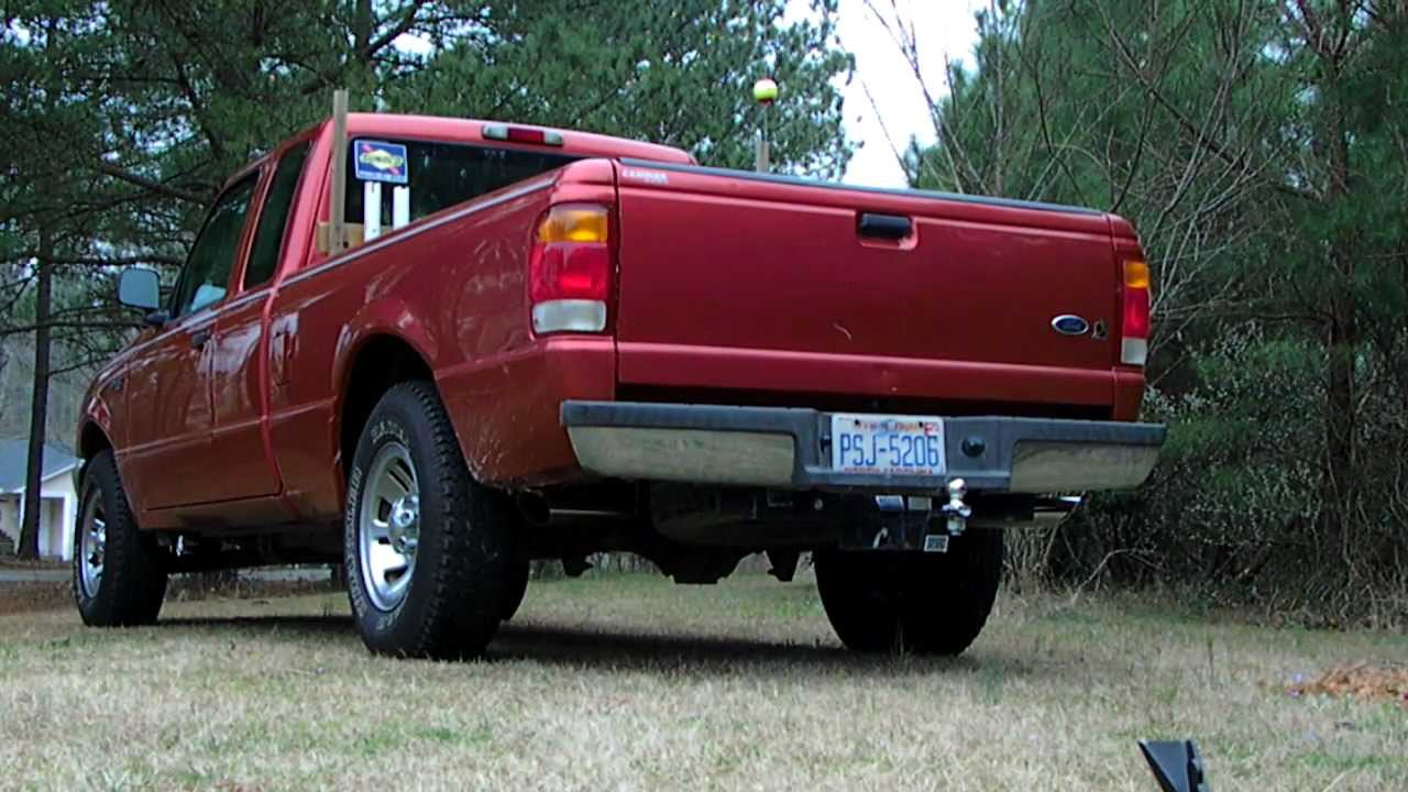 hight resolution of 3 0l 1999 ford ranger magnaflow muffler dual exhaust pipes chrome tips on the ranger youtube