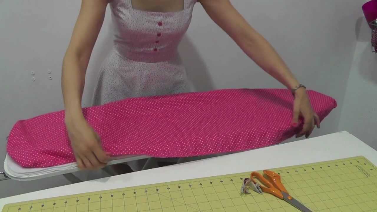 Tutorial como hacer una funda de tabla de planchar youtube - Como hacer unas fundas para el sofa ...