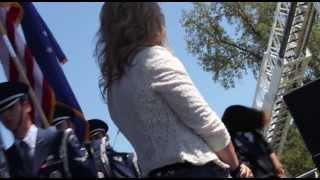 Stacy Stone (16 years old) KNCI Country in the Park - National Anthem