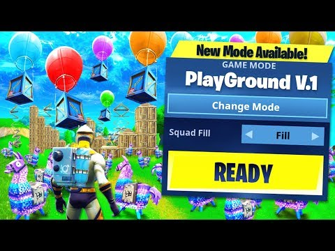 *NEW* PLAYGROUND LTM COMING TO FORTNITE: BATTLE ROYALE!