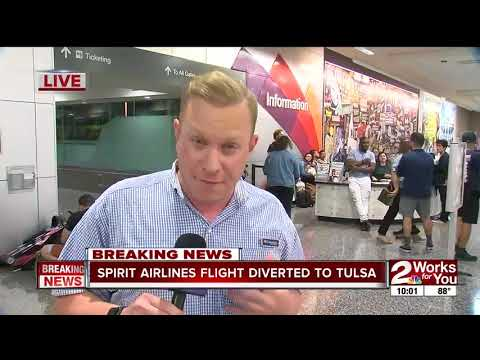 Spirit Airlines flight diverted to Tulsa