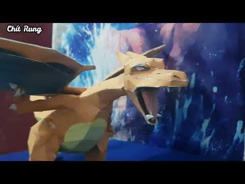 Hướng dẫn làm mô hình giấy Pokemon Charizard [ Papercraft ]