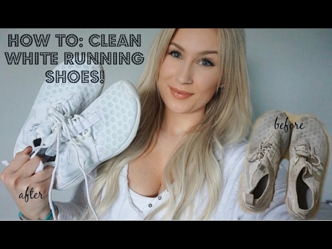 How To Clean WHITE Running Shoes | Nikes and Converse