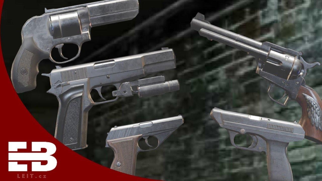 Weapon Showcase Pistols Resident Evil 2 Remake Youtube