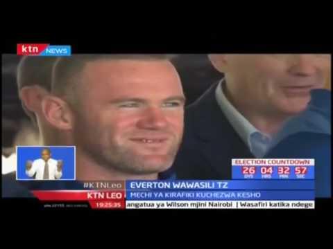 Everton wawasili TZ: Wayne Rooney ajumuika na kikosi