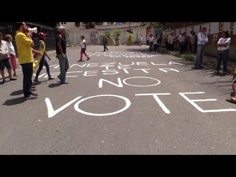 afpes: A una semana, opositores venezolanos quieren parar Constituyente