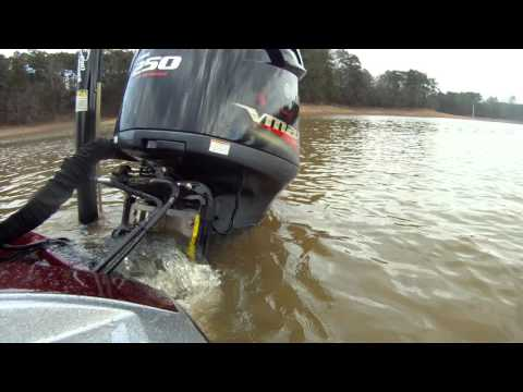 GoPro video test for my bass boat rear outboard motor Yamaha