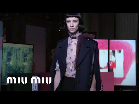 bb1e1a09e28d Miu Miu Fall Winter 2019 Fashion Show - YouTube