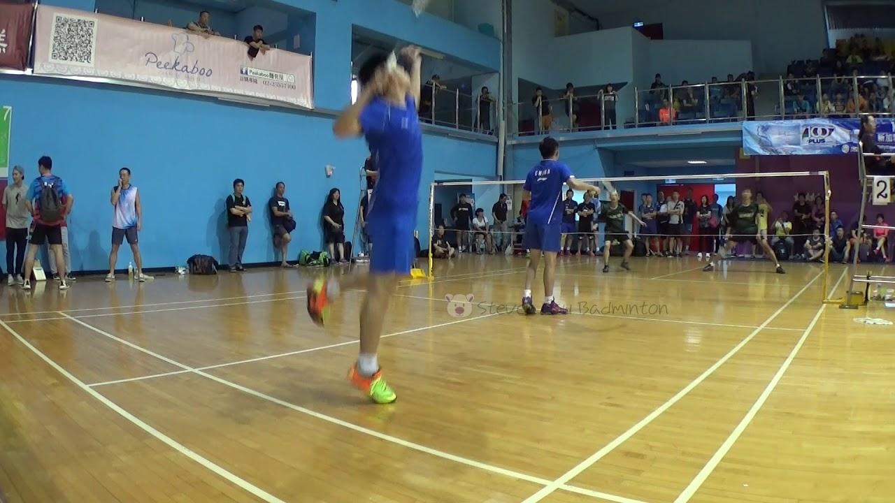 20180414Morning Cup 挑戰MD王翔奕+劉庭瑋(金原)vs張宇翔+張靈駿(香港李寧) - YouTube