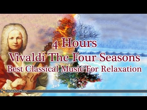 4 HOURS Relaxing Music: Vivaldi Four Seasons  Classical Music