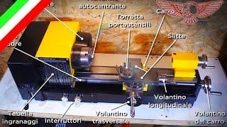 Cosa è un mini tornio parallelo e come si usa per fare un pezzo diy - ep 30 p1 - Roma Custom Bike