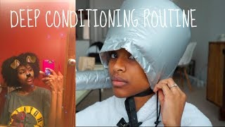 How I Deep condition on Type 4 Hair With Hooded Bonnet Dryer