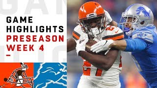 Browns vs. Lions Highlights | NFL 2018 Preseason Week 4