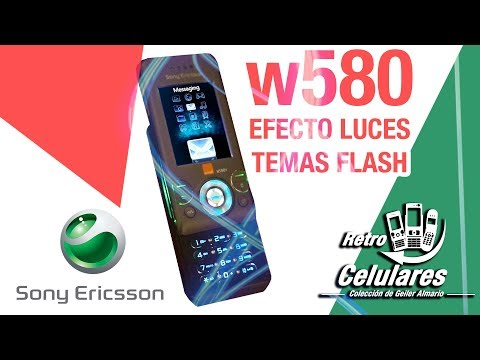 EFECTO DE LUCES TEMAS FLASH EN SONY ERICSSON W580 ¿COMO HACERLO EN 2019? RETRO CELULARES