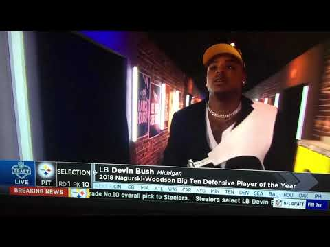 NFL Draft - Devin Bush (Steelers First Round Draft Pick) (Go To The Description & Click)