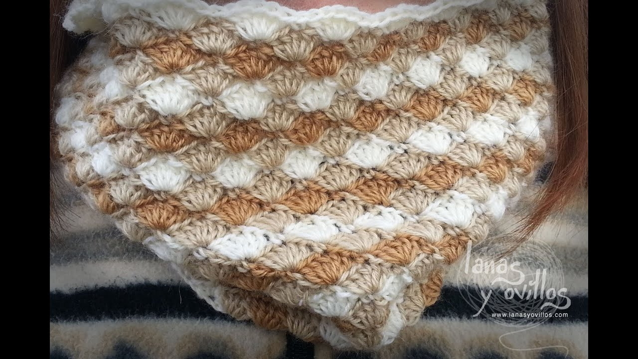 Tutorial Cuello o Bufanda Crochet o Ganchillo Circle Scarf - YouTube