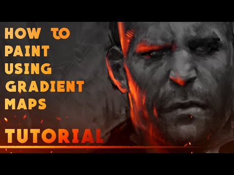 How to Paint Using Gradient Maps - Photoshop Tutorial