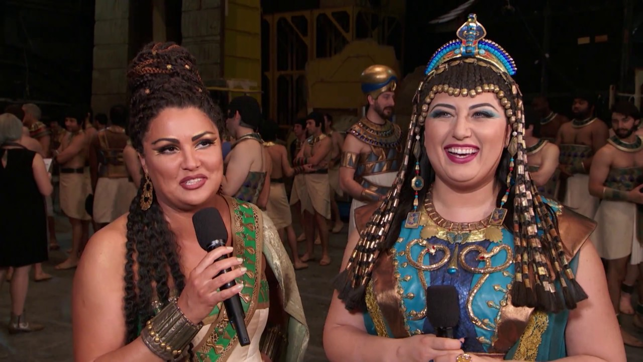 Anna Netrebko and Anita Rachvelishvili on Aida