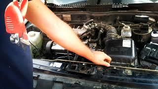 как заменить пружины фиксации капота на автомобиле ВАЗ 2115