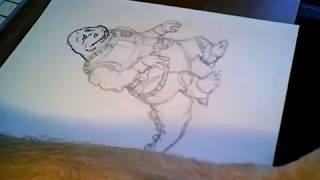 Bonehead - Dinosaucers - live cartoon drawing