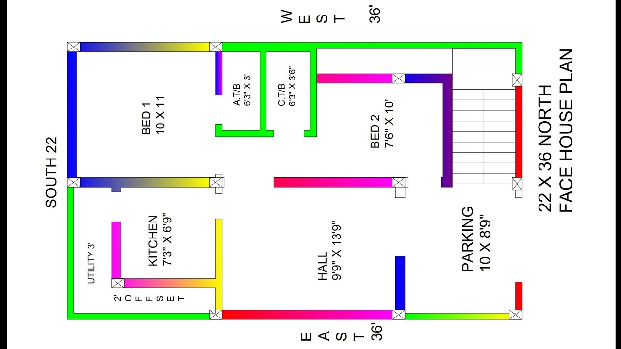 maxresdefault North Facing Bhk House Vastu Plan on north facing house is good, north west facing house, north facing plot vastu, north facing apartment plan, north facing house feng shui, north facing house plants, north facing house landscaping, north or south facing house, north west entrance to house, north feng shui front door,