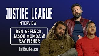 Jason Momoa, Ray Fisher & Ben Affleck - Justice League Interview