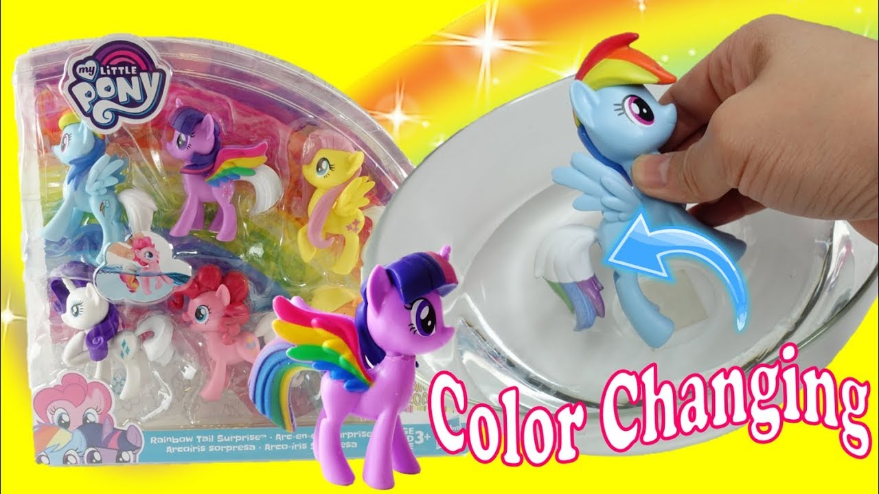 Color Changing My Little Pony Rainbow Tail Surprise Mane Six Ponies Youtube
