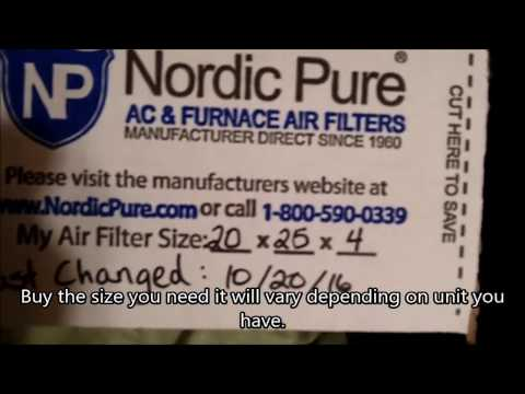 How to replace Carrier heat pump HVAC filter Nordic Pure