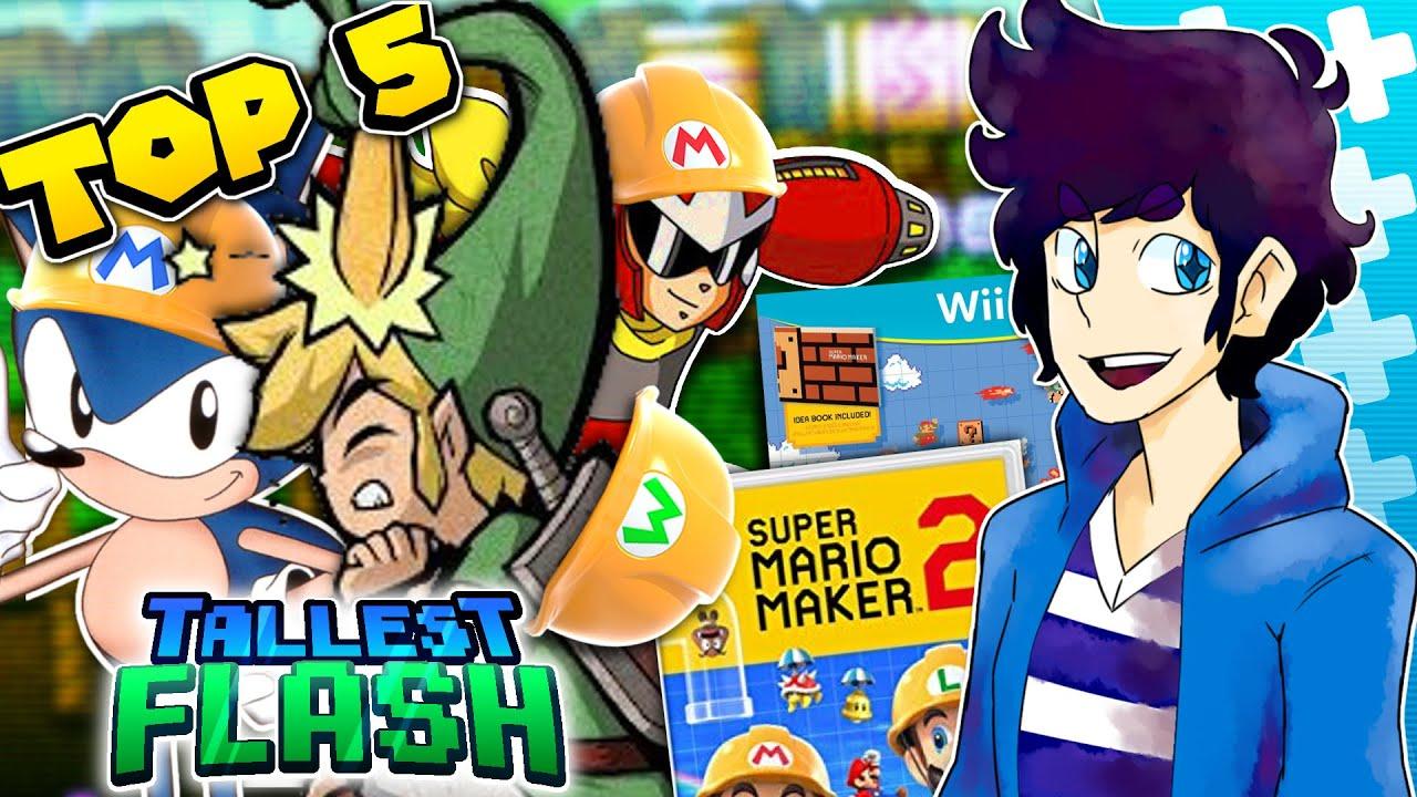Top 5 Super Mario Maker Type Fan Games (Before Super Mario Maker 2) -  Tallest Flash