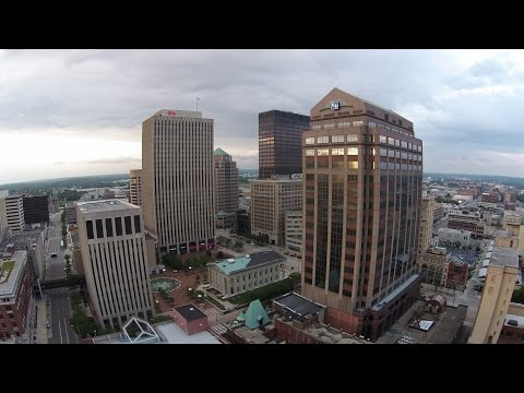 Sunset Sky View - Downtown Dayton, OH - DJI Drone Ohio Skyline