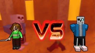 Roblox Undertale - CHARA VS SANS