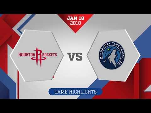 Minnesota Timberwolves vs. Houston Rockets - January 18, 2018