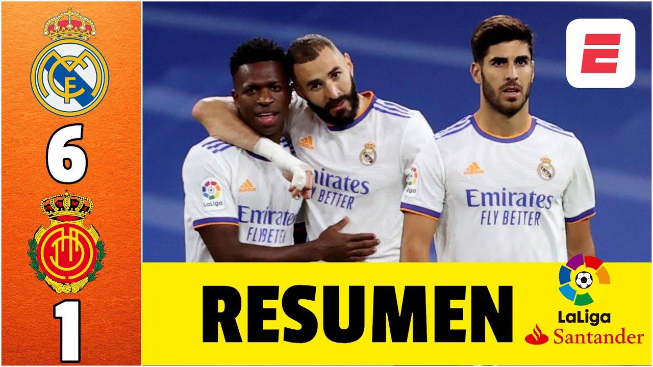 Real Madrid 6-1 Mallorca. GOLEADA con triplete de Asensio, doblete de Benzema. Gol de Isco