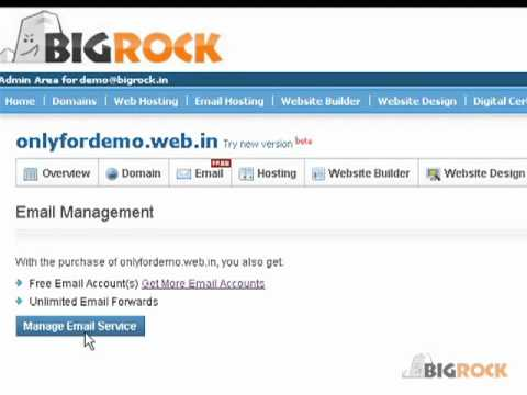 BigRock - How to activate Premium Email Services