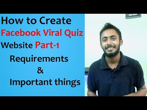 How to create Facebook Viral Quiz Website l Importants things & Requirements l Hindi