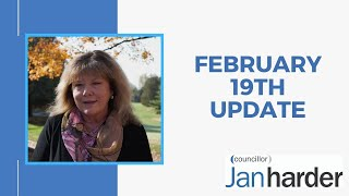 February 19th, 2021 - Councillor Jan Harder Update