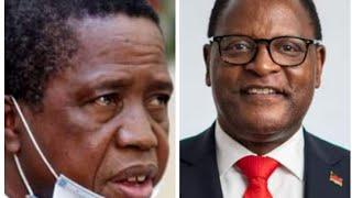President Lungu Hosts Malawian President Dr Chakwera At State House.