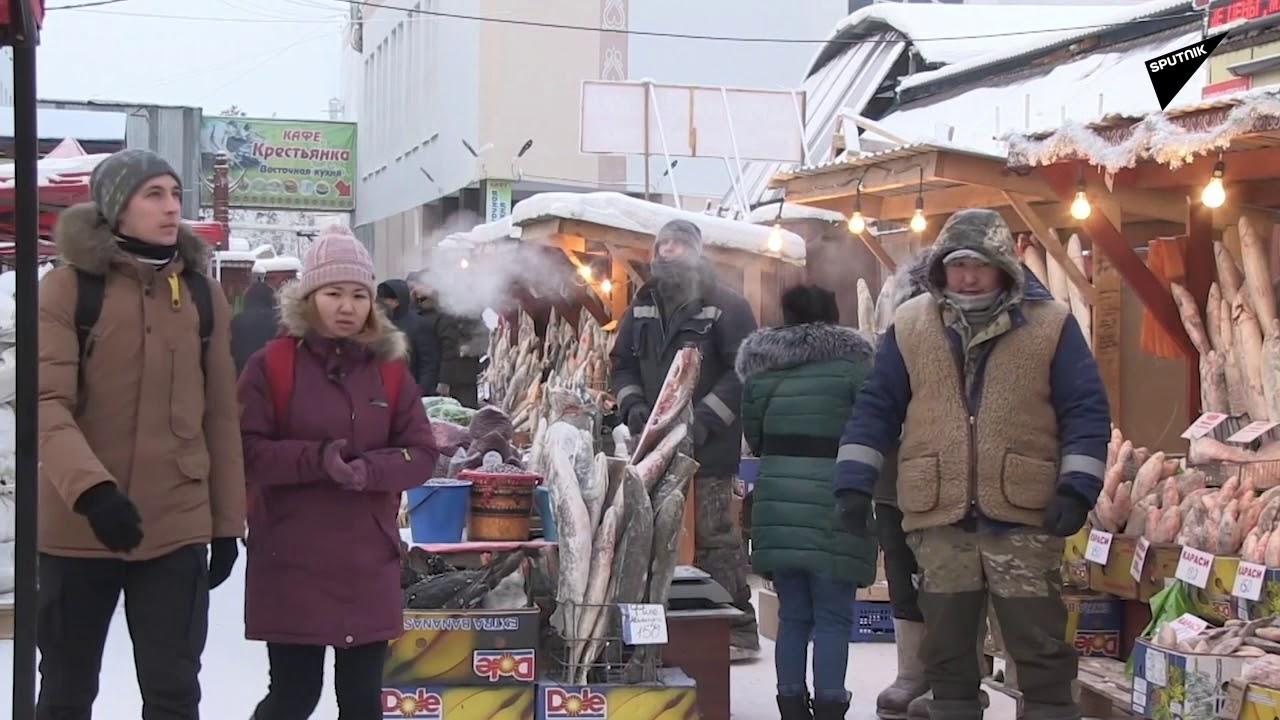 Eksi 50 derecede bile hizmet veren dünyanın en soğuk pazar yeri
