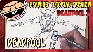 [PREVIEW] How to Draw DEADPOOL (Deadpool 2) | Drawing Tutorial Time Lapse