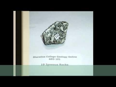 Lab 2: Vis-Ident Igneous Rocks