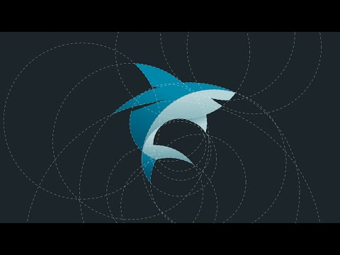 Shark Logo Design Tutorial with Circular Grid