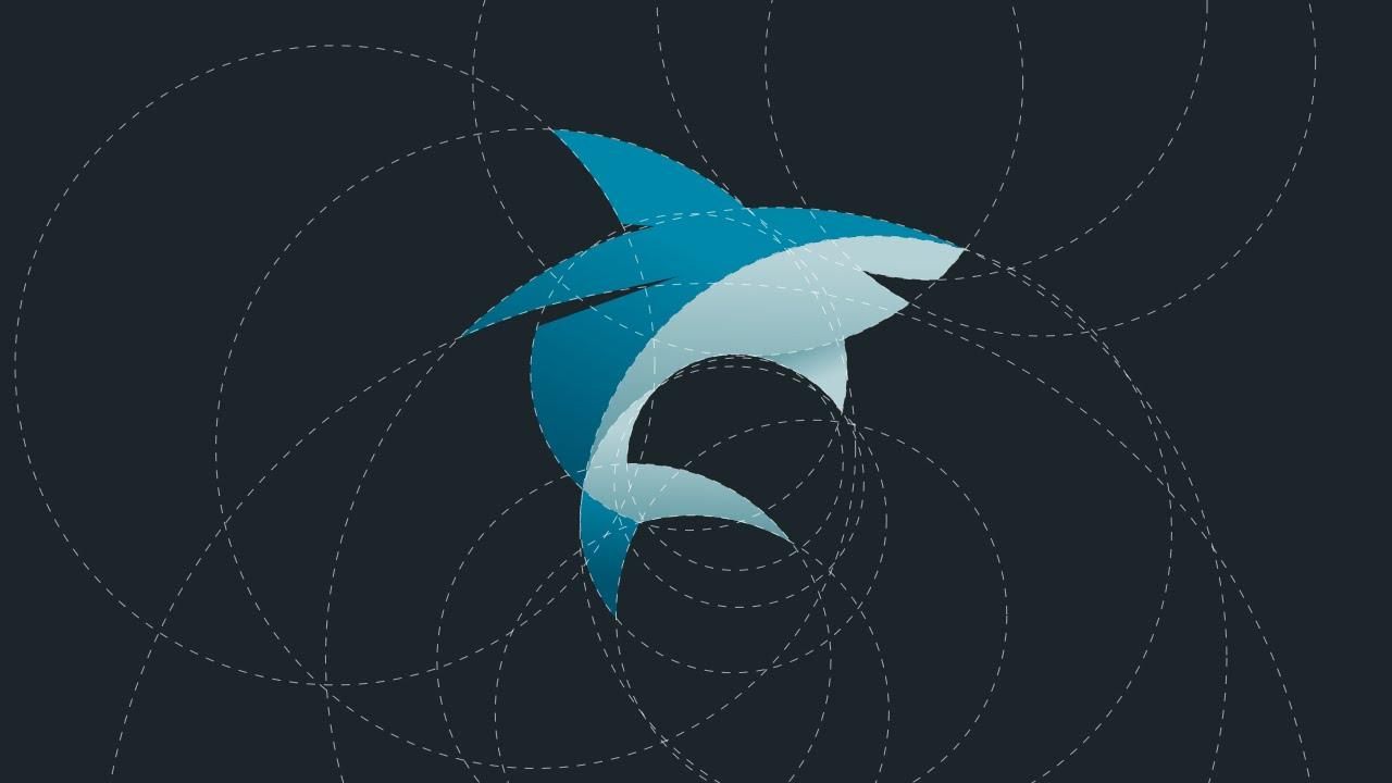 Shark Logo Design Tutorial with Circular Grid - YouTube