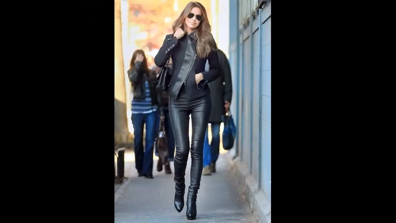 Lastest  Arrogant German Women In Leather Wolke Hegenbarth In Leather Pants