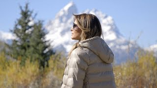 First Lady Melania Trump Visits Wyoming