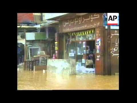 LEBANON: BEIRUT: RAINSTORM PARALYSES CAPITAL