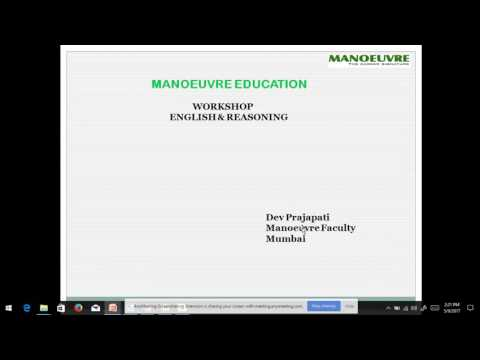 MANOEUVRE : MH LAW CET SHORTCUT WORKSHOP 1 (CODING-DECODING & NUMBER SERIES BY MANOEUVRE)